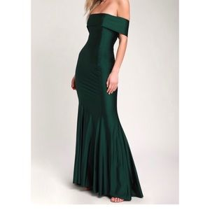 LuLus* Forest green evening dress